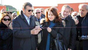 Il dottor Nicola Capocasale inaugura l'impianto dedicato al padre Francesco