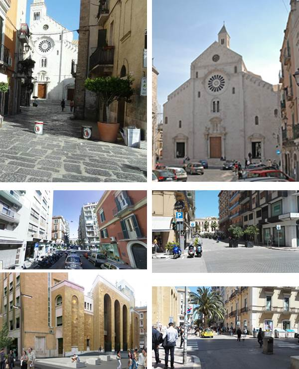 La Cattedrale, via Argiro prima con le auto e dopo senza. Via Sparano come sarà e come è