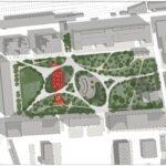 Uno dei rendering del futuro parco urbano