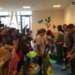 La consegna dei giocattoli alla ludoteca dell'ospedale Miulli