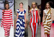 Tendenza Righe Moda Primavera Estate Oggetto Editoriale X