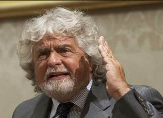 Il leader del Movimento 5 stelle Beppe Grillo