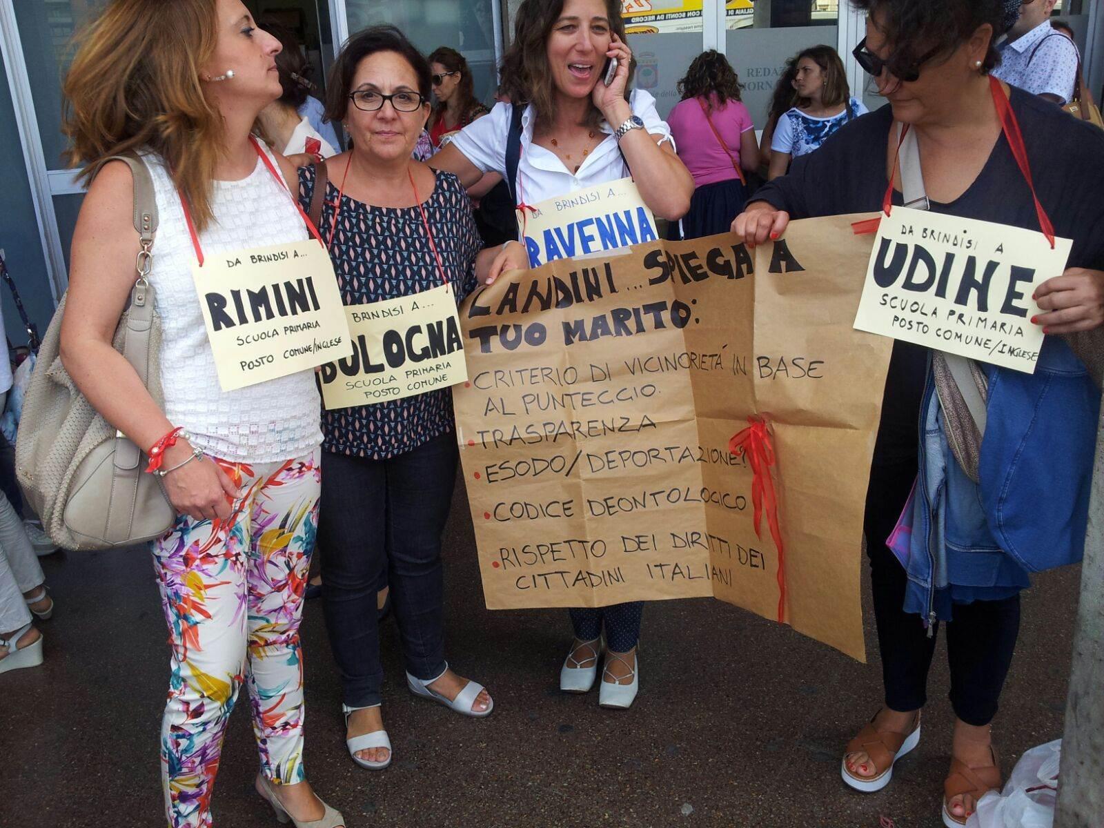 Ancora proteste dei prof contro mobilità