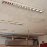 Infiltrazioni sul soffitto della sala ristorante