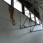 I danni delle infiltrazioni in palestra, dove gocciola acqua in caso di pioggia