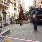 Le operazioni di espianto delle palme di via Sparano