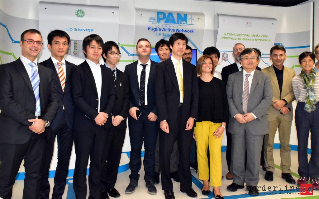 La delegazione di esperti giapponesi
