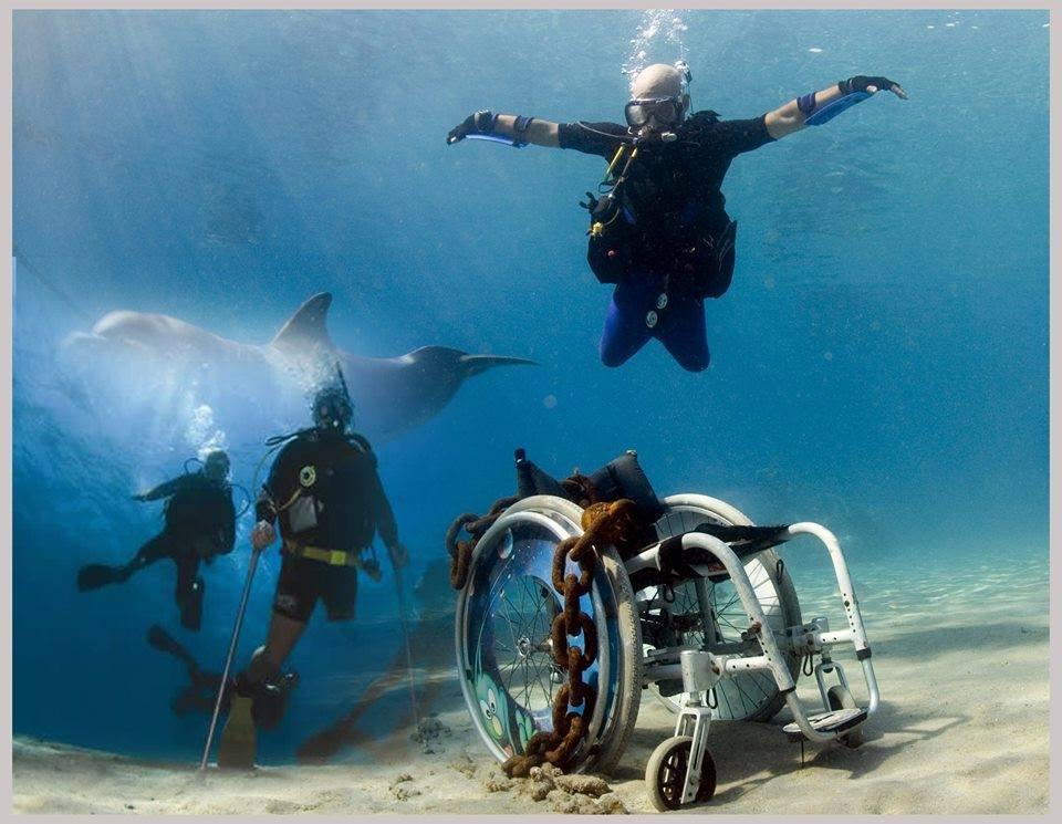 Record mondiale immersione per disabile Paolo De Vizzi