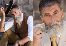 Philippe Dumas Year Old Becomes A Fashion Model After Growing A Beard D