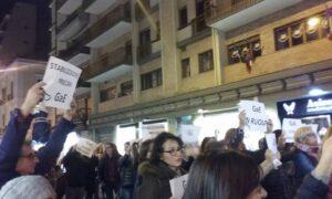 La protesta dei docenti precari