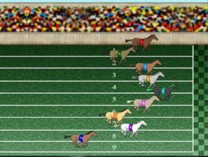 Uno dei giochi virtuali su cui si può scommettere: cavalli