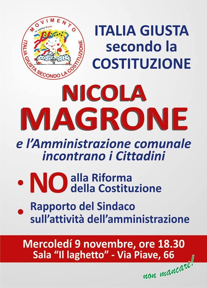 Modugno No Al Referendum Costituzionale Nicola Magrone Incontra I Cittadini