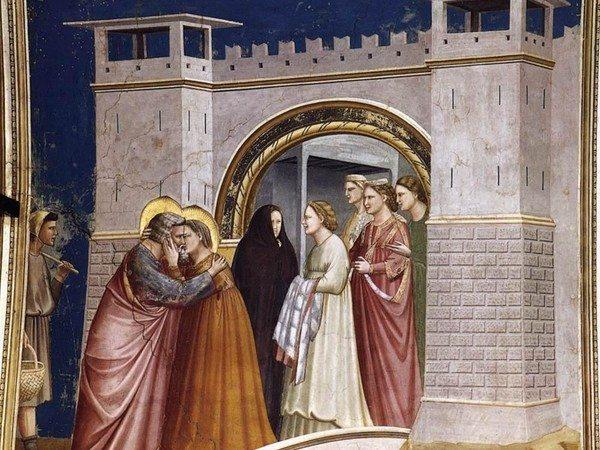 Giotto, Incontro alla Porta d'Oro, 1303-1305 circa, Cappella degli Scrovegni, Padova