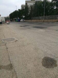 toppe asfalto strada San Girolamo