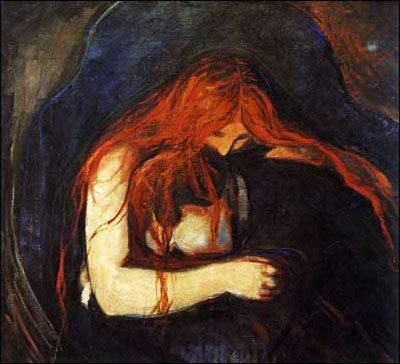 Edvard Munch, Vampiro, 1893 Munch museet, Oslo