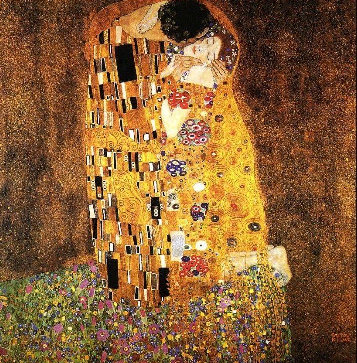 Gustav Klimt, Il bacio, 1907-1908, Österreichische Galerie Belvedere, Vienna