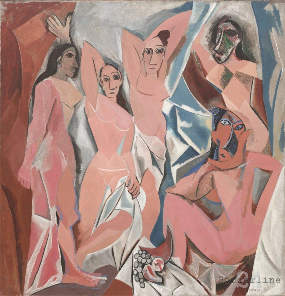 Pablo Picasso, Les demoiselles d'Avignon, (1907) Moma di New York