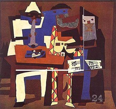Pablo Picasso, I tre musici (1921), MoMa, New York