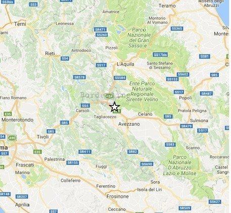 Forte scossa di terremoto nell'Aquilano alle 21.58.