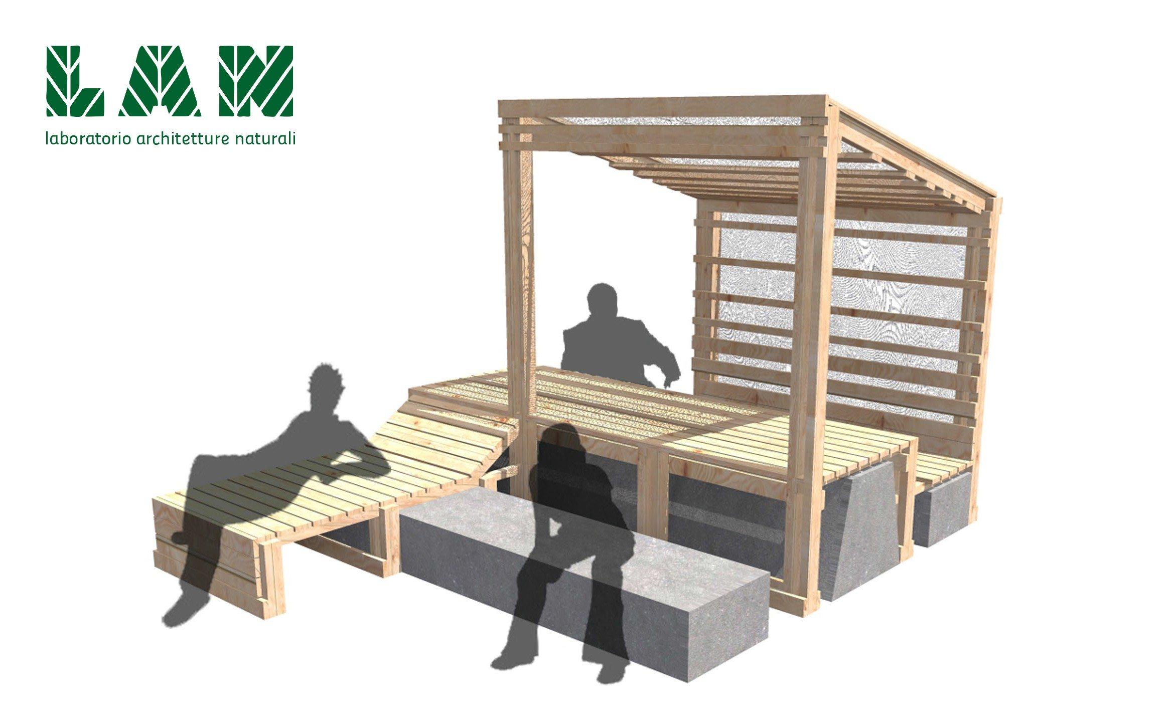 Bari nuovi arredi in legno nel parco gargasole a for Arredi in legno