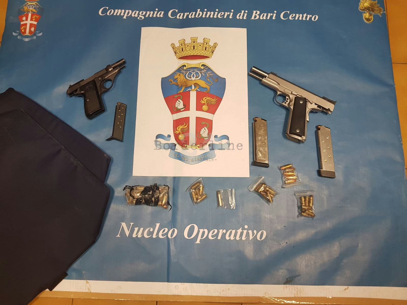 Bari, i carabinieri interrompono summit criminale a Japigia: 2 pistole sequestrate