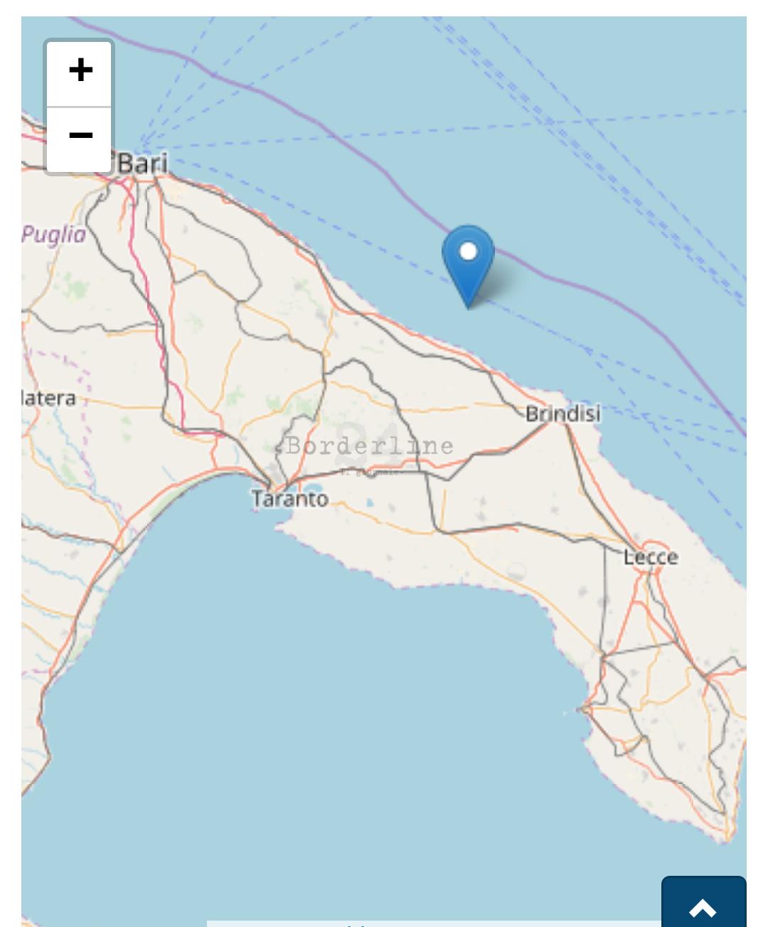 Terremoto, forte scossa in Puglia: epicentro nell'Adriatico. Paura da Bari a Brindisi