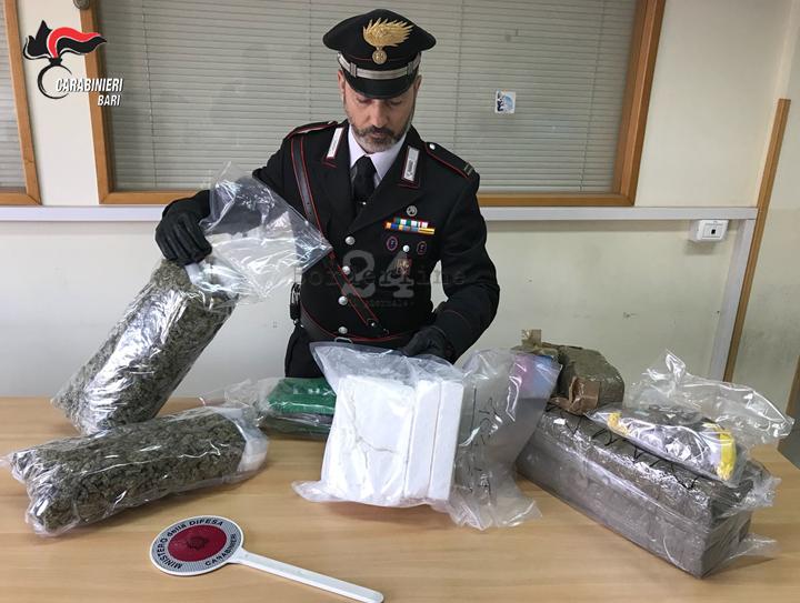 Bari, Carabinieri rastrellano Japigia: sequestrati 20 chili di droga. Due arresti