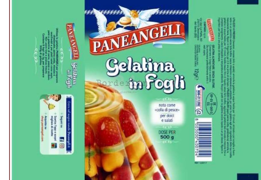 Rischio salmonella, ritirato un lotto i gelatina in fogli Paneangeli
