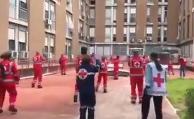 Flashmob Croce Rossa Ospedale Giovanni XXIII